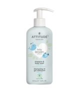 ATTITUDE bébé feuilles shampooing et gel douche bonne nuit