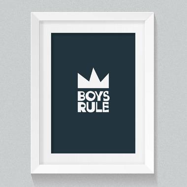 mavisBLUE Boys Rule 8x10