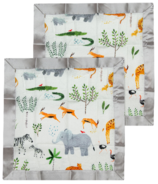 Loulou Lollipop Security Blanket Safari Jungle