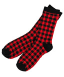 Hatley Little Blue House Women's Crew Socks Buffalo Plaid