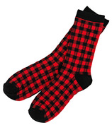 Hatley Little Blue House Men's Crew Socks Buffalo Plaid
