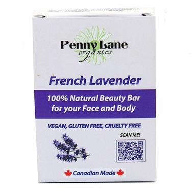 Penny Lane Organics 100% Natural Beauty Bar French Lavender