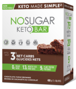 No Sugar Company Keto Bar Chocolate Fudge Brownie