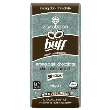 Zazubean Organic Buff 90% Cocoa Strong Dark Chocolate