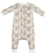 Nest Designs Bamboo Long Sleeve Sleep Suit 0.6 TOG Peach Meadow