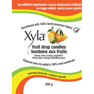 Xyla Naturally Flavoured Fruit Drop Candies