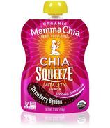 Mamma Chia Organic Chia Squeeze Strawberry Banana