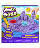 The One & Only Kinetic Sand Sandbox Playset with Purple Sand and 3 Molds