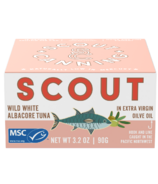 Scout Wild White Albacore Tuna in Organic Extra Virgin Olive Oil