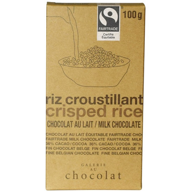 Galerie au Chocolat Crisped Rice Chocolate Bar