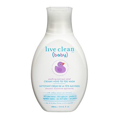 Live Clean Baby Soothing Oatmeal Relief Creamy Head-To-Toe Wash