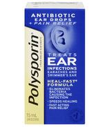 Gouttes auriculaires anti-douleur Polysporin Plus