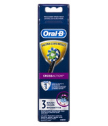 Oral-B CrossAction Electric Toothbrush Replacement Brush Head Refills Black