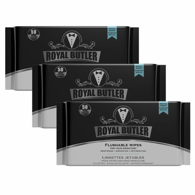 Royal Butler Flushable Wipes with Aloe & Chamomile