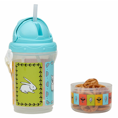 Sugarbooger Flip & Sip Snacker Meadow Blue