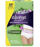 Always Discreet Incontinence & Postpartum Underwear Maximum Small/Medium