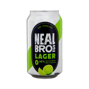 Neal Brothers Lager Non-Alcoholic Beer Lime