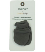 True Two x L'ovedbaby Organic Cotton Mittens Gray