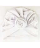 Baby Wisp Bohemian Knot Hat White