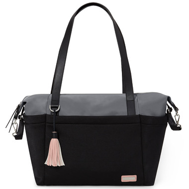 Skip Hop Nolita Neoprene Diaper Tote Black and Grey