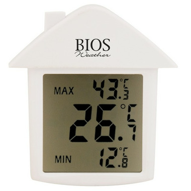 Bios Indoor or Outdoor Digital Suction Cup Thermometer