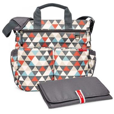Skip Hop Duo Signature Diaper Bag Triangle Print