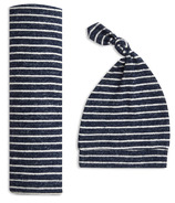 aden+anais Snuggle Knit Swaddle Gift Set Navy Stripe