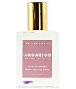 The Lyfestyle Co. Natural Crystal Infused Perfume Oil Aquarius