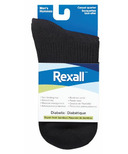 Rexall Men's Bamboo Casual Quarter Diabetic Socks