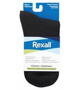 Rexall Men's Bamboo Casual Quarter Diabetic Socks