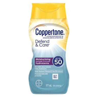 Coppertone Defend & Care Sunscreen Lotion SPF 50