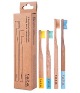 f.e.t.e. Bamboo Toothbrush Family Pack