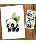PiCO Temporary Tattoos Panda Card & Tattoos