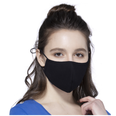 Keep Leaf 3D Cotton Face Mask Black