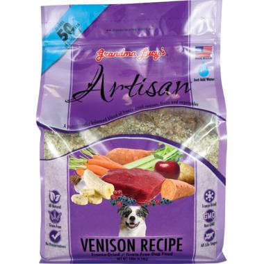 Grandma Lucy\'s Artisan Venison Recipe Freeze-Dried Grain-Free Dog Food
