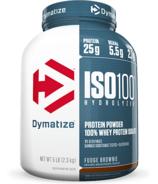 Dymatize Nutrition ISO100 Hydrolyzed Whey Protein Fudge Brownie 5 lbs