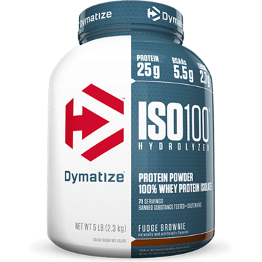 Dymatize Nutrition ISO100 Hydrolyzed Whey Protein Fudge Brownie 5 lbs