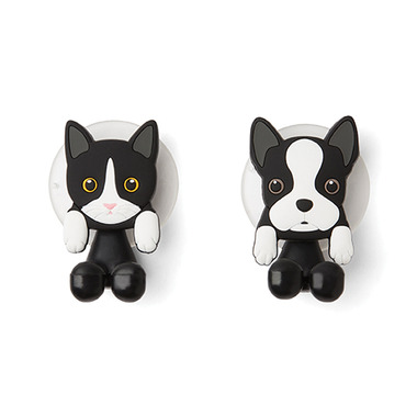 Fox Run Toothbrush Holders Bulldog & Cat