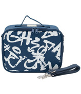 SoYoung Navy Paper White Grafitti Lunch Box
