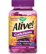 Nature's Way Alive Calcium Gummies Plus Vitamin D3