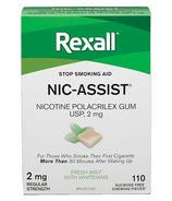 Rexall Nic-Assist Nicotine Gum Regular Strength 2 mg Fresh Mint