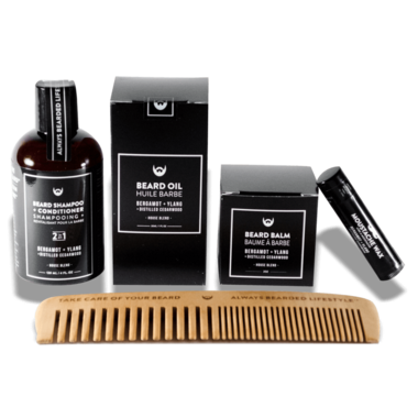 Always Bearded Lifestyle Beard Grooming Kit Bergamot and Ylang