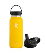 Hydro Flask Wide Mouth Bottle & Straw Lid Sunflower Bundle