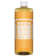 Dr. Bronner's Organic Pure Castile Liquid Soap Citrus Orange 32 Oz