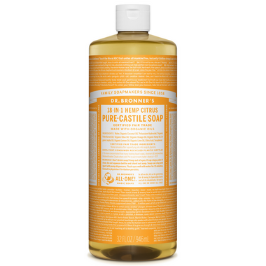 Dr. Bronner\'s Organic Pure Castile Liquid Soap Citrus Orange 32 Oz
