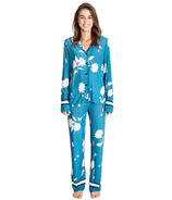 PJ Salvage Jewel Of The Night Floral Pj Set Teal