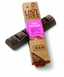 LoveChock Goji and Orange Raw Organic Chocolate Bar