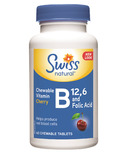 Swiss Natural Vitamin B12, B6 & Folic Acid