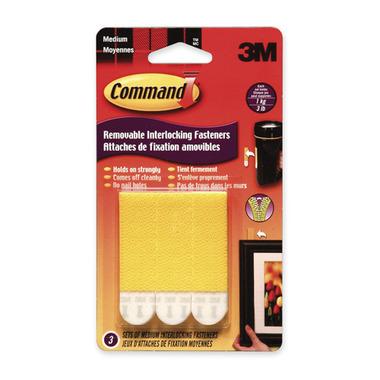 Command Removable Interlocking Medium Fasteners