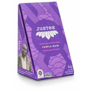 JusTea Purple Pyramid Tea Bags Purple Rain